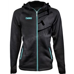 509 Women's Teal Tech Zip Hoody - 509-CLO-WTZ8T-MD