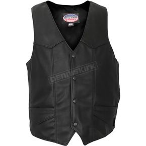 Hot Leathers USA Made Premium Leather Vest - VSM5006M