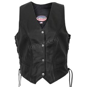 Hot Leathers Womens USA Made Leather Vest - VSL5001XXL