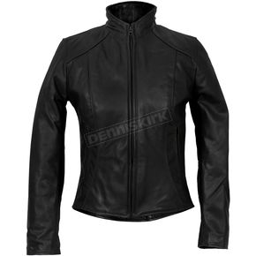 Womens USA Made Clean Cut Leather Jacket