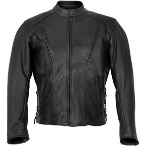 Hot Leathers USA Made Vented Side Lace Premium Leather Jacket - JKM5002-56