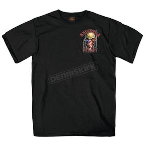 Hot Leathers Black America Rising T-Shirt - GMD1364L