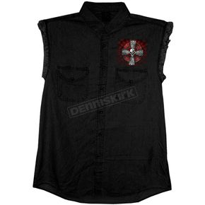 Hot Leathers Black Celtic Cross Sleeveless Shirt - GMD5022XXL
