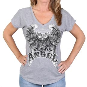 Hot Leathers Women's Gray Asphalt Anger T-Shirt - GLR1433S