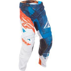 Fly Racing Blue/White/Orange Crux Kinetic Mesh Pants - 371-33132