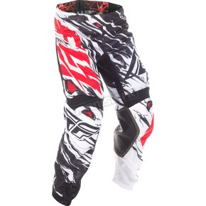 Fly Racing Black/White/Red Relapse Kinetic Mesh Pants - 371-33028