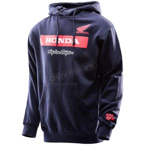 Troy Lee Designs Navy Honda Wing Block Pullover Hoody - 731417342