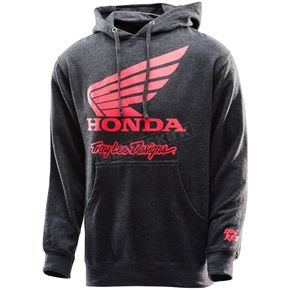 Troy Lee Designs Heather Charcoal Honda Wing Pullover Hoody - 731416945