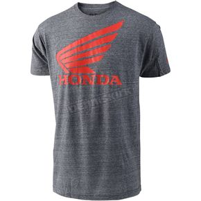 Troy Lee Designs Heather Gray Honda Wing T-Shirt - 701416905