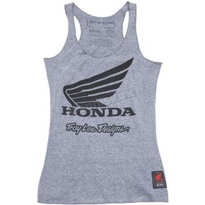 Women's Heather Gray Honda Wing Tank Top