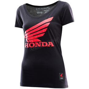 Troy Lee Designs Women's Black Honda Wing T-Shirt - 721416245