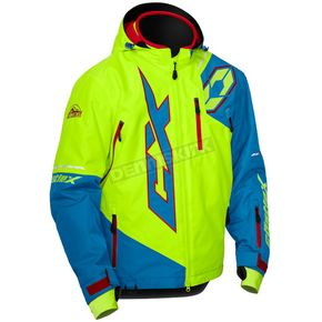 Castle X Process Blue/Hi-Vis Stance Jacket - 70-6534
