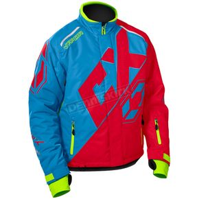 Castle X Process Blue/Red/Hi-Vis Vapor Jacket - 70-6788