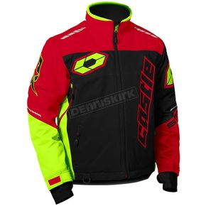 Castle X Red/Black/Hi-Vis Strike Jacket - 70-6889
