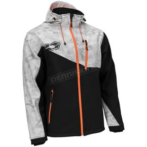 Castle X Alpha Gray/Black/Orange Barrier G2 Tri-Lam Jacket - 78-3059