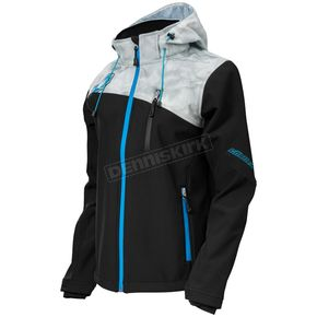 Castle X Women's Black/Alpha Gray/Blue Barrier G2 Tri-Lam Jacket - 78-4064