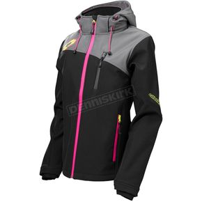 Castle X Women's Black/Magenta Barrier G2 Tri-Lam Jacket - 78-4082