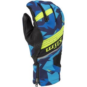 Klim Camo Blue PowerXross Gloves - 3438-005-120-320