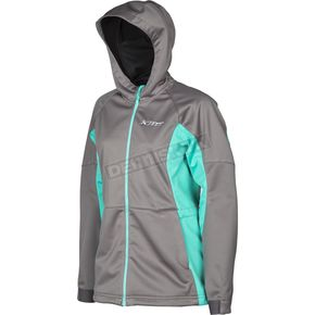Klim Women's Aqua/Gray Evolution Hoody - 3788-000-150-270