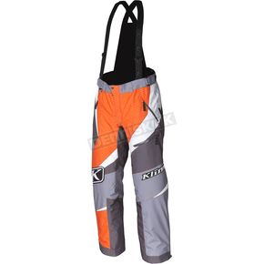 Klim Orange/Gray Kaos Pants-Bibs - 3804-000-160-400