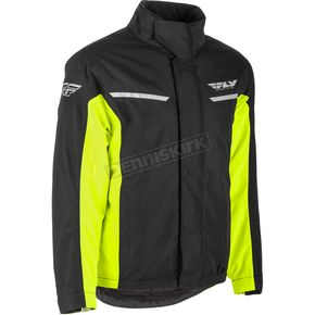 Fly Racing Black/Hi-Vis Aurora Jacket - 470-4069L