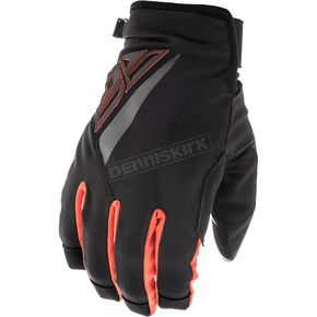 Fly Racing Black/Orange Title Gloves - 371-04813