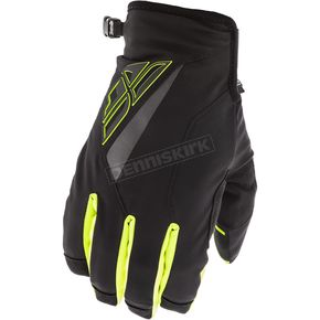 Fly Racing Black/Hi-Vis Title Gloves - 371-04909