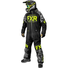FXR Racing Black/Gray Urban Camo/Hi-Vis Clutch Monosuit - 182812-1006-22