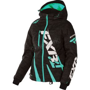 FXR Racing Women's Black Digi/Mint Boost Jacket - 170204-1152-08