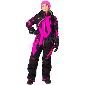 FXR Racing Women's Black/Electric Pink CX Lite Monosuit - 182900-1094-08