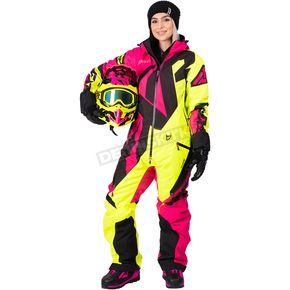 FXR Racing Women's Fuchsia/Hi-Vis/Black CX Monosuit - 182904-9065-12