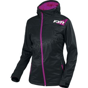 FXR Racing Women's Black/Wineberry  Diamond Dual-Laminate Jacet - 181004-1085-18