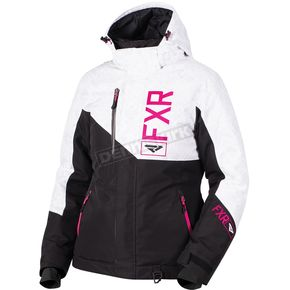 FXR Racing Women's Black/White Track/Fuchsia Fresh Jacket - 180206-1001-16