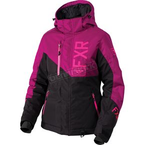 FXR Racing Women's Black/Wineberry/Electric Pink Fresh Jacket - 180206-1085-24
