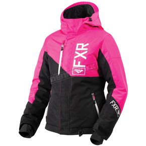 FXR Racing Women's Black/Fuchsia/White Fresh Jacket - 180206-1090-20