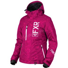 FXR Racing Women's Wineberry Track/White Fresh Jacket - 180206-8501-02