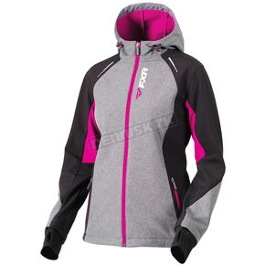 FXR Racing Women's Gray Heather/Wineberry Pulse Softshell Jacket - 181001-0785-08