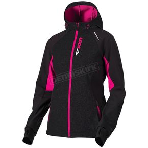 FXR Racing Women's Black/Fuchsia Pulse Softshell Jacket - 181001-1090-12