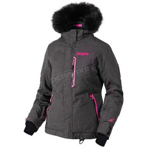FXR Racing Women's Black Herringbone/Electric Pink Pursuit Jacket - 180203-1194-10