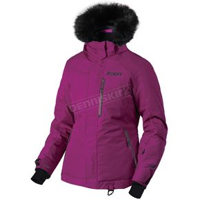FXR Racing Women's Wineberry/Black Pursuit Jacket - 180203-8610-12