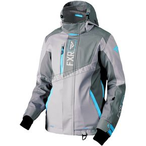 FXR Racing Women's Gray/Light Gray/Aqua Renegade Jacket - 180219-0550-10