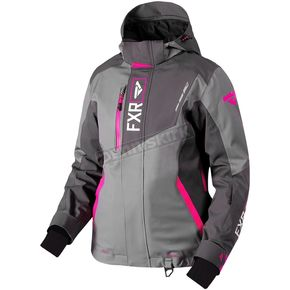 FXR Racing Women's Gray/Charcoal/Fuchsia Renegade Jacket - 180219-0590-12