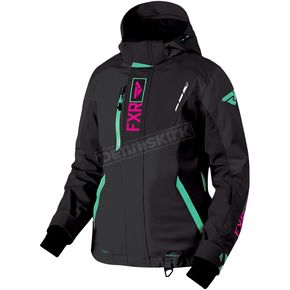 FXR Racing Women's Black/Mint/Electric Pink Renegade Jacket - 180219-1052-12