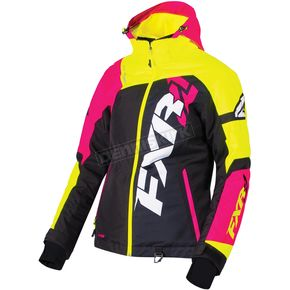 FXR Racing Women's Black/Hi-Vis/Fuchsia Revo X Jacket - 170216-1065-14