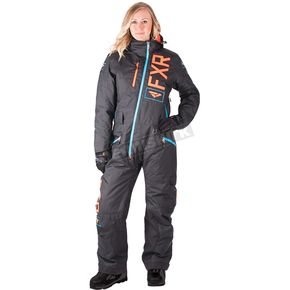 FXR Racing Women's Black/Electric Tangerine/Aqua Squadron Monosuit - 182905-1035-08
