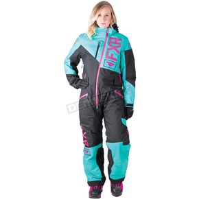 FXR Racing Women's Mint/Black/Electric Pink Squadron Monosuit - 182905-5210-06