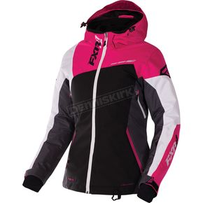 FXR Racing Women's Black/Charcoal/Fuchsia/White Tri Vertical Edge Jacket - 170211-1008-14