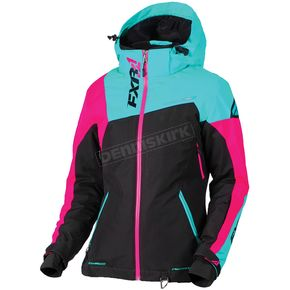 FXR Racing Women's Black/Mint/Electric Pink Vertical Edge Jacket - 170211-1052-16