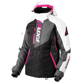 FXR Racing Women's Black/Charcoal/Fuchsia/White Tri Vertical Pro Jacket - 180202-1090-02