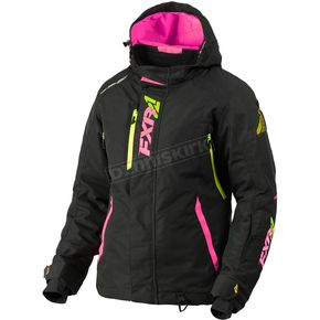 FXR Racing Women's Black/Electric Pink/Hi-Vis Vertical Pro Jacket - 180202-1094-10